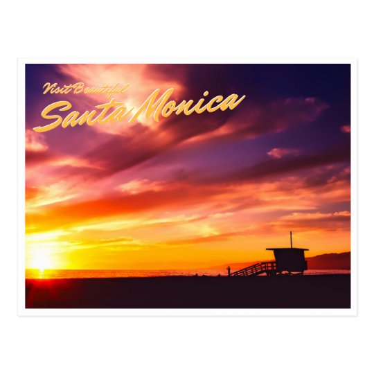 Beautiful Santa Monica Postcard