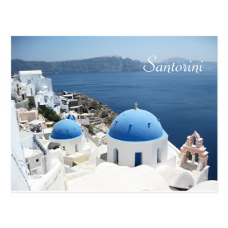 Beautiful Santorini  Greece Postcard