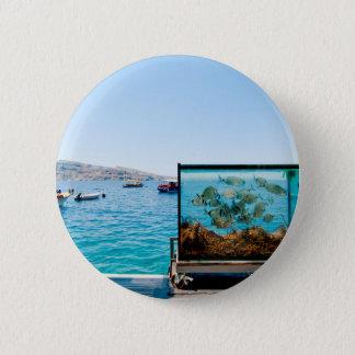 Beautiful Santorini sea view 2 Inch Round Button