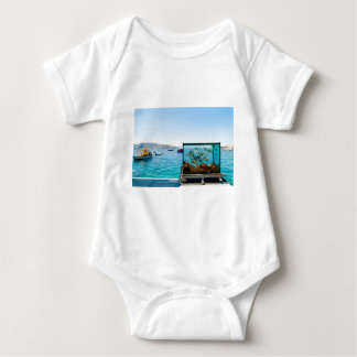 Beautiful Santorini sea view Baby Bodysuit