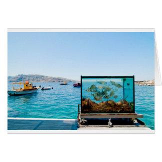 Beautiful Santorini sea view Card