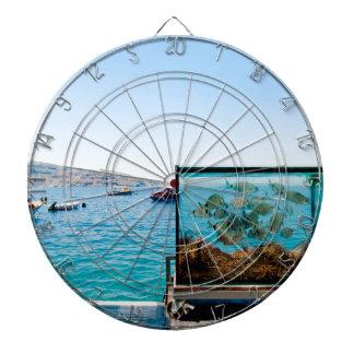 Beautiful Santorini sea view Dartboard