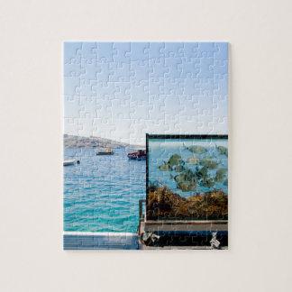 Beautiful Santorini sea view Jigsaw Puzzle