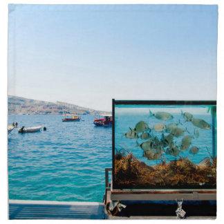 Beautiful Santorini sea view Napkin