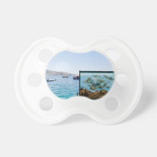 Beautiful Santorini sea view Pacifier