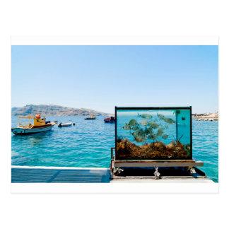 Beautiful Santorini sea view Postcard