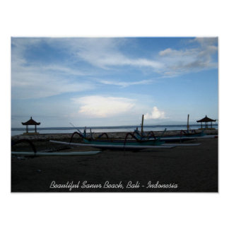 Beautiful Sanur Beach, Bali - Indonesia Poster