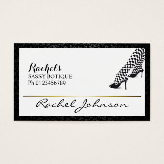Beautiful Sassy Unique Elegant Botique Business Card