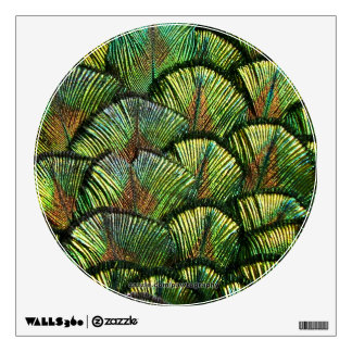 Beautiful Scalloped Peacock Feathers Wall Decal