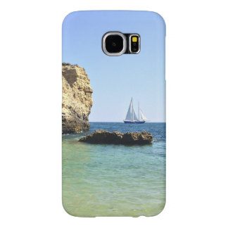 beautiful scenery of sail boat between the rocks samsung galaxy s6 cases