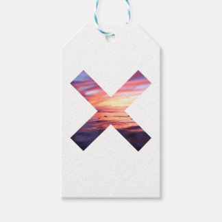 Beautiful Scenery X sign Gift Tags