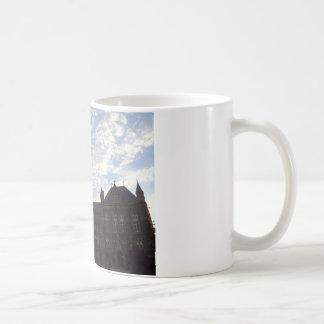 Beautiful school building and sky basic white mug