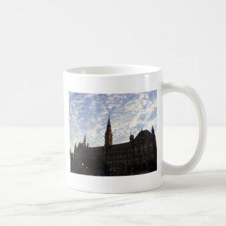 Beautiful school building and sky coffee mug