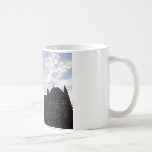 Beautiful school building and sky mugs