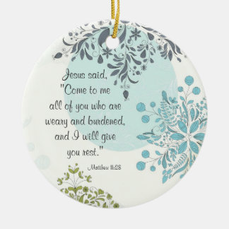 Beautiful Scripture Matthew 11:28 Custom Ornament