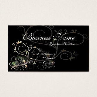 Beautiful Scrollwork Vines D1 - Business Cards