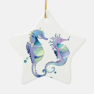 Beautiful Sea Horses Animal Ornaments