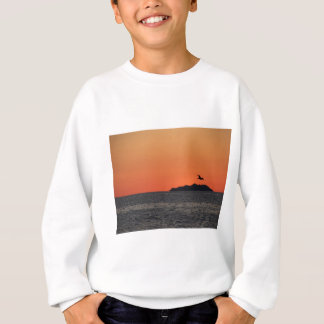 Beautiful sea sunset with island silhouette sweatshirt