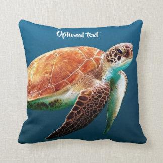 Beautiful Sea Turtle Swimming Throw Pillow