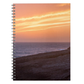 Beautiful Seascape Sunset - Guinho, Portugal Spiral Notebook
