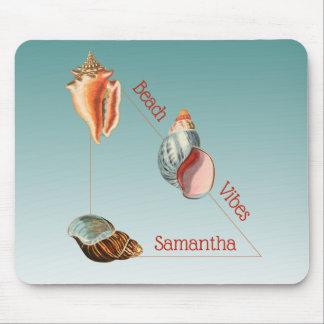 Beautiful Seashells Beach Vibes Mouse Pad