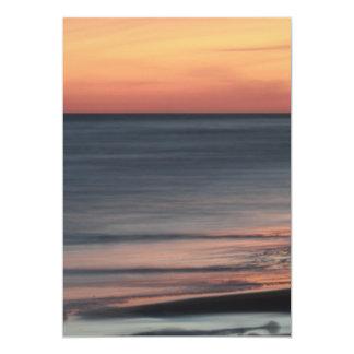 Beautiful Seaside Sunset Celebration Blank Card