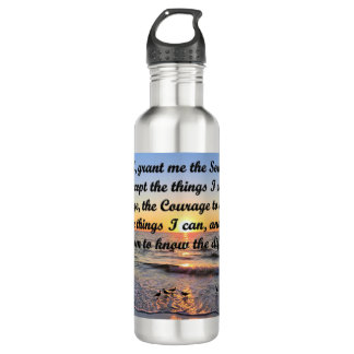BEAUTIFUL SERENITY PRAYER WATER BOTTLE