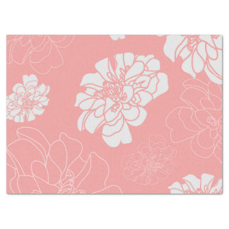 Beautiful Shabby Chic Floral Flower Pattern Tissue Paper