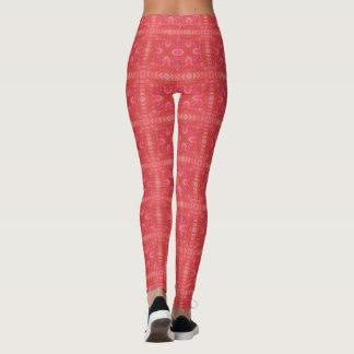 Beautiful Shades of Red Mosaic Leggings