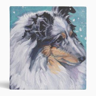 Beautiful Sheltie Shetland Sheepdog Fine Art 3 Ring Binders