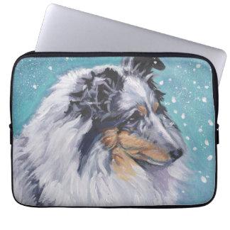 Beautiful Sheltie Shetland Sheepdog Fine Art Laptop Computer Sleeve