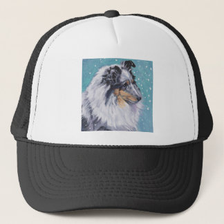 Beautiful Sheltie Shetland Sheepdog Fine Art Trucker Hat