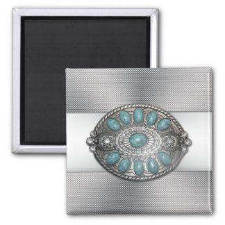 Beautiful shinning antique metal belt buckle image magnet