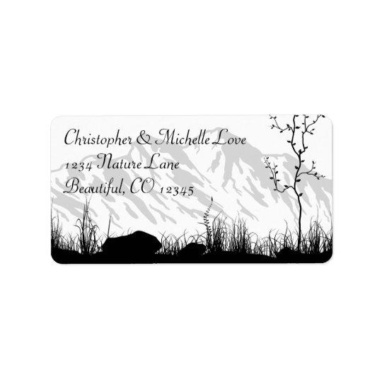 Beautiful Silhouette Mountain Address