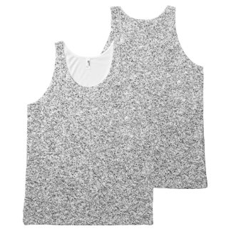 Beautiful Silver glitter sparkles All-Over-Print Tank Top