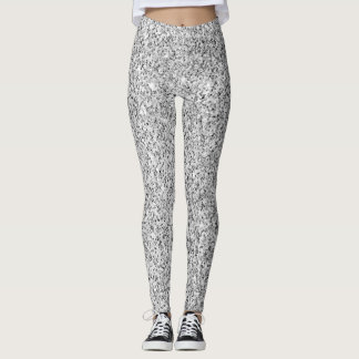 Beautiful Silver glitter sparkles Leggings