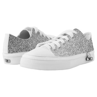 Beautiful Silver glitter sparkles Low-Top Sneakers