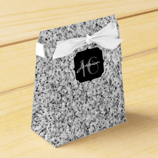 Beautiful Silver glitter sparkles Sweet 16 Favor Box