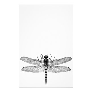 Beautiful & Simple Vintage Dragonfly Stationery Paper