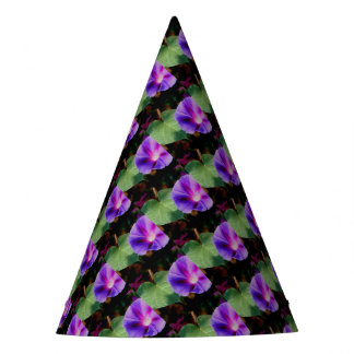 Beautiful Single Morning Glory Flower and Leaf Party Hat