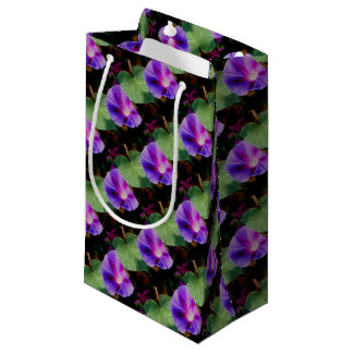 Beautiful Single Morning Glory Flower and Leaf Small Gift Bag