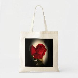 Beautiful Single Red Rose Tote Bag