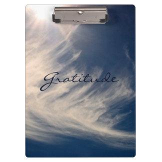 Beautiful Sky & Gratitude Inspires Custom Clipboard