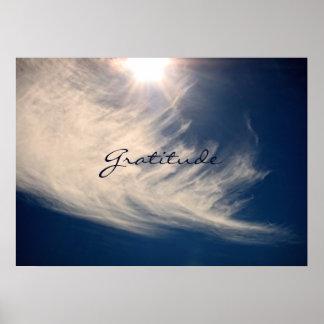 Beautiful Sky & Gratitude Inspires Custom Poster