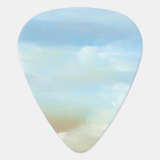 Beautiful Skyscape with Fluffy Clouds Guitar Pick