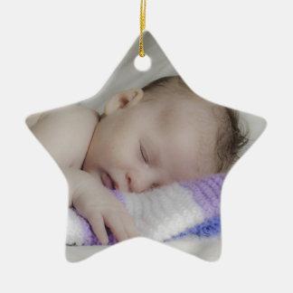 Beautiful Sleeping Newborn Baby Ceramic Ornament