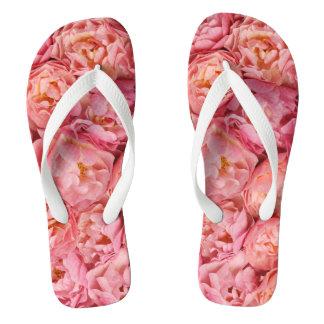 Beautiful small roses flip flops