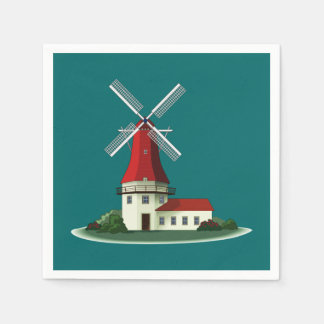 Beautiful Smock Windmill Paper Napkin