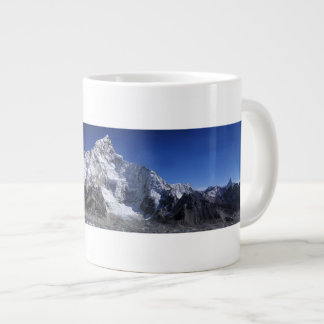 Beautiful Snow capped Mountains Scene Poster Giant Coffee Mug