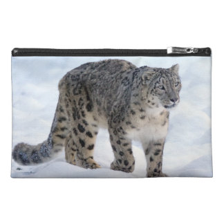 Beautiful snow leopard travel accessory bag